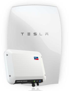 Sma Storage System 2 5kw Ac With Tesla Powerwall Tesla Powerwall Boys Storage Energy Storage