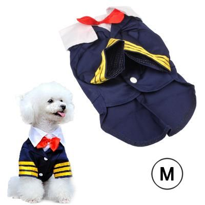 Navy Suit Style Clothes For Dog Pet Size M Navy Suit Style