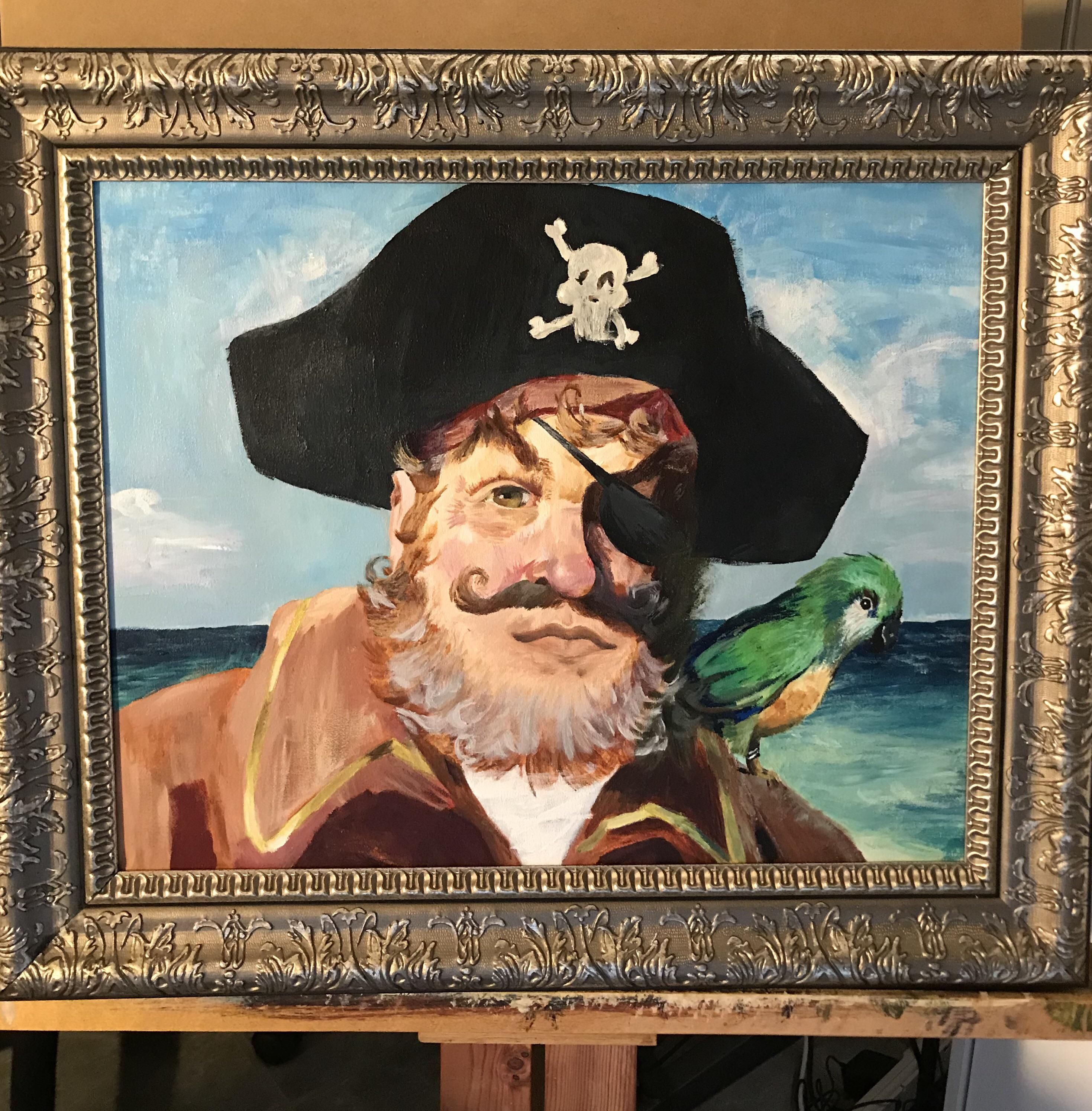 16x20 Painty the Pirate, Me, Acrylic, 2019
