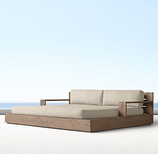 Marbella Teak Daybed Cushions Outdoor Daybed Pool Furniture Daybed