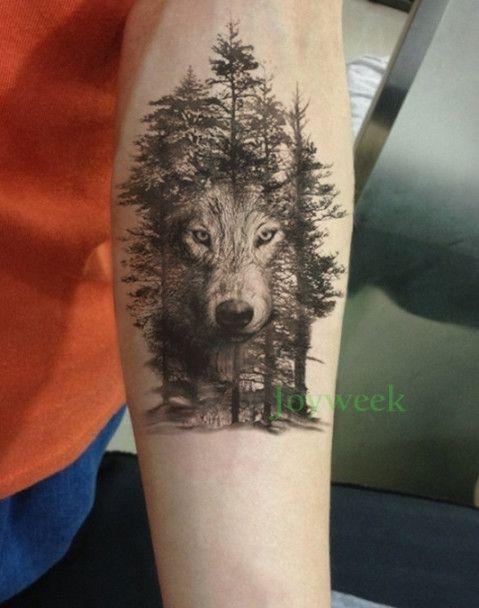 94d77391c433e Waterproof Temporary Tattoo Sticker crow tiger Ganesha wolf forest tatto  stickers flash tatoo fake tattoos for