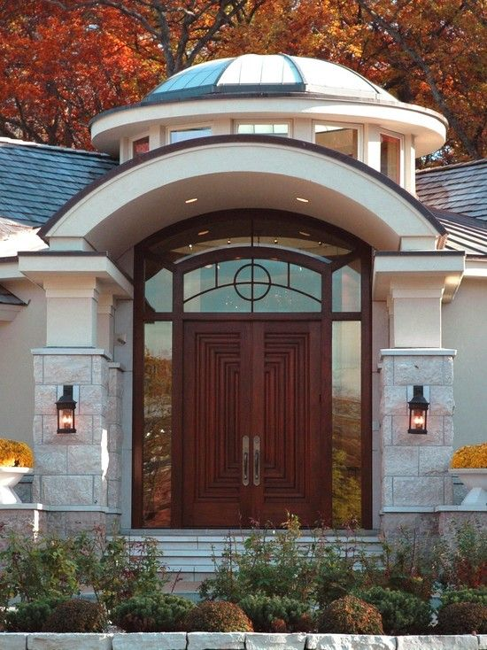 eclectic entry glass panel front doors design pictures