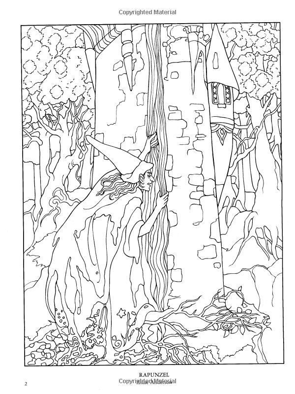 dover coloring book color your own great fairy tale illustrations ...