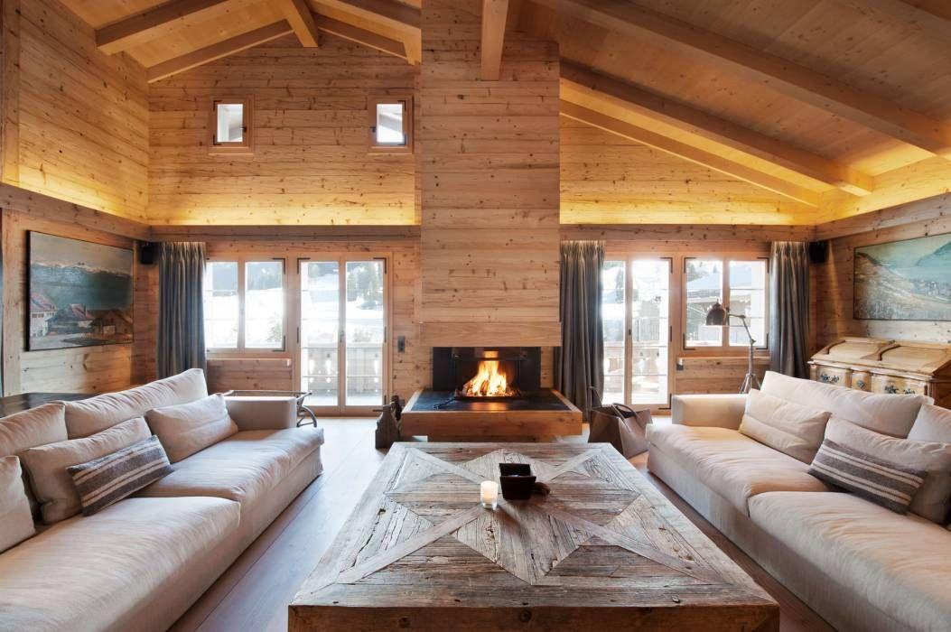 rustikale wohnzimmer bilder von ardesia design | chalets, Wohnzimmer dekoo