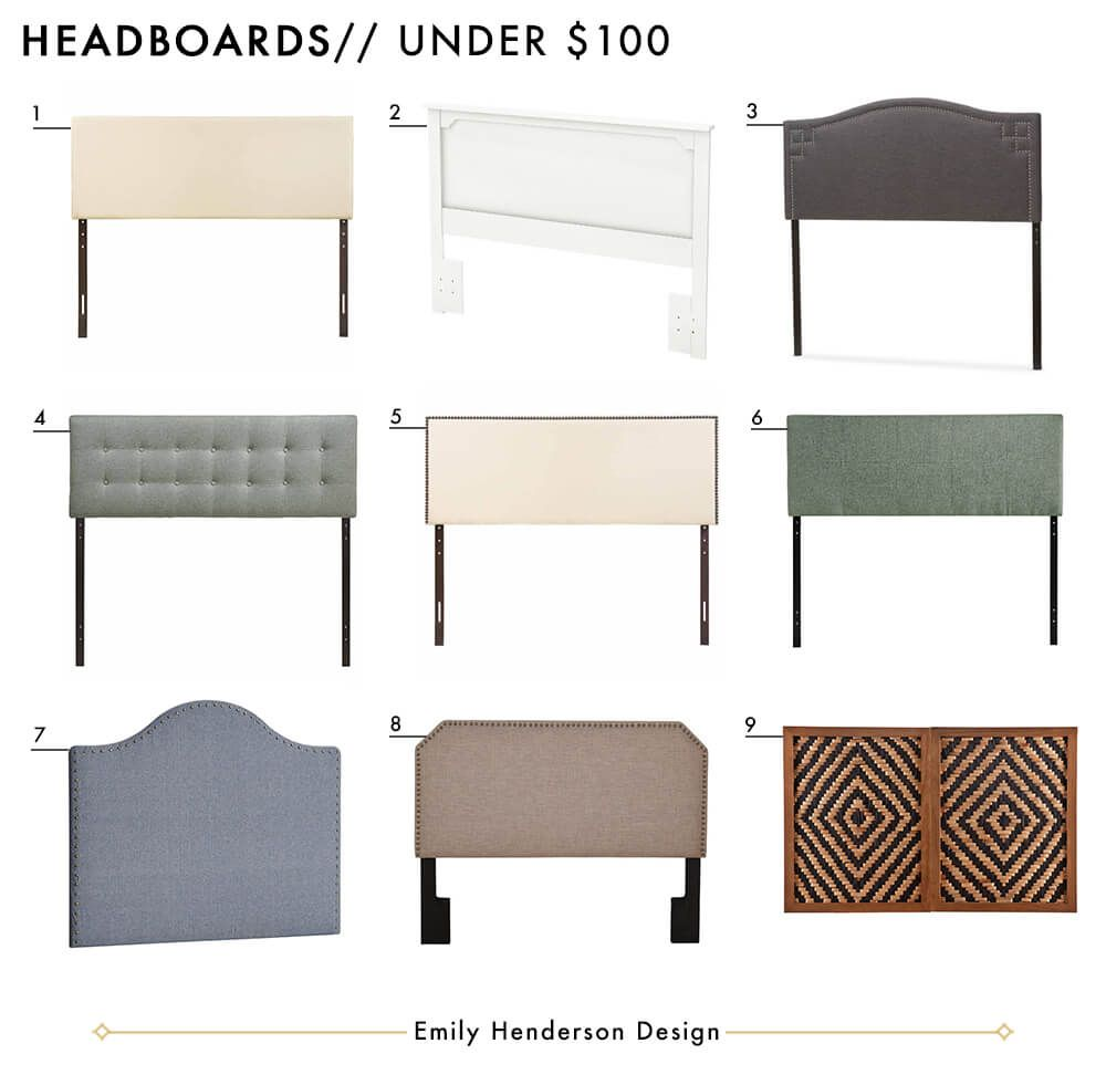 Affordable Headboards Under $100 Roundup Emily Henderson Design