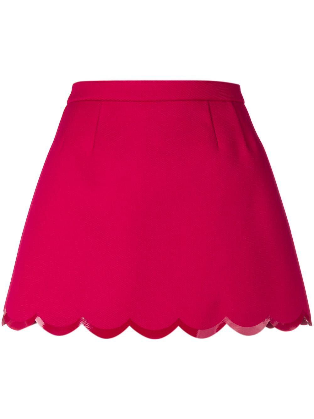 99c9d83a6a RED VALENTINO RED VALENTINO SCALLOPED HEM MINI SKIRT. #redvalentino #cloth