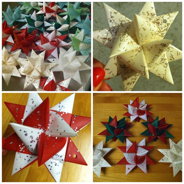 Diy Polish Star Ornament: Polish Star Ornaments... (I Many Many Of These As A Child