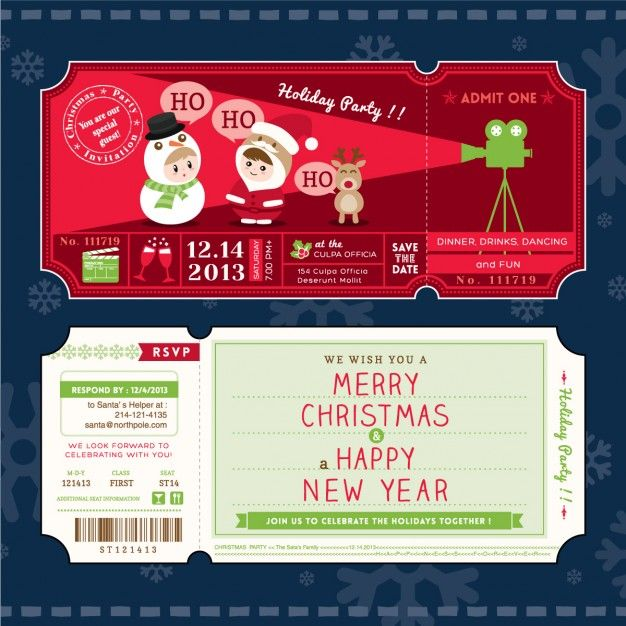 Pin by kraphix on Free Vector graphic EPS template Pinterest - christmas party ticket template free