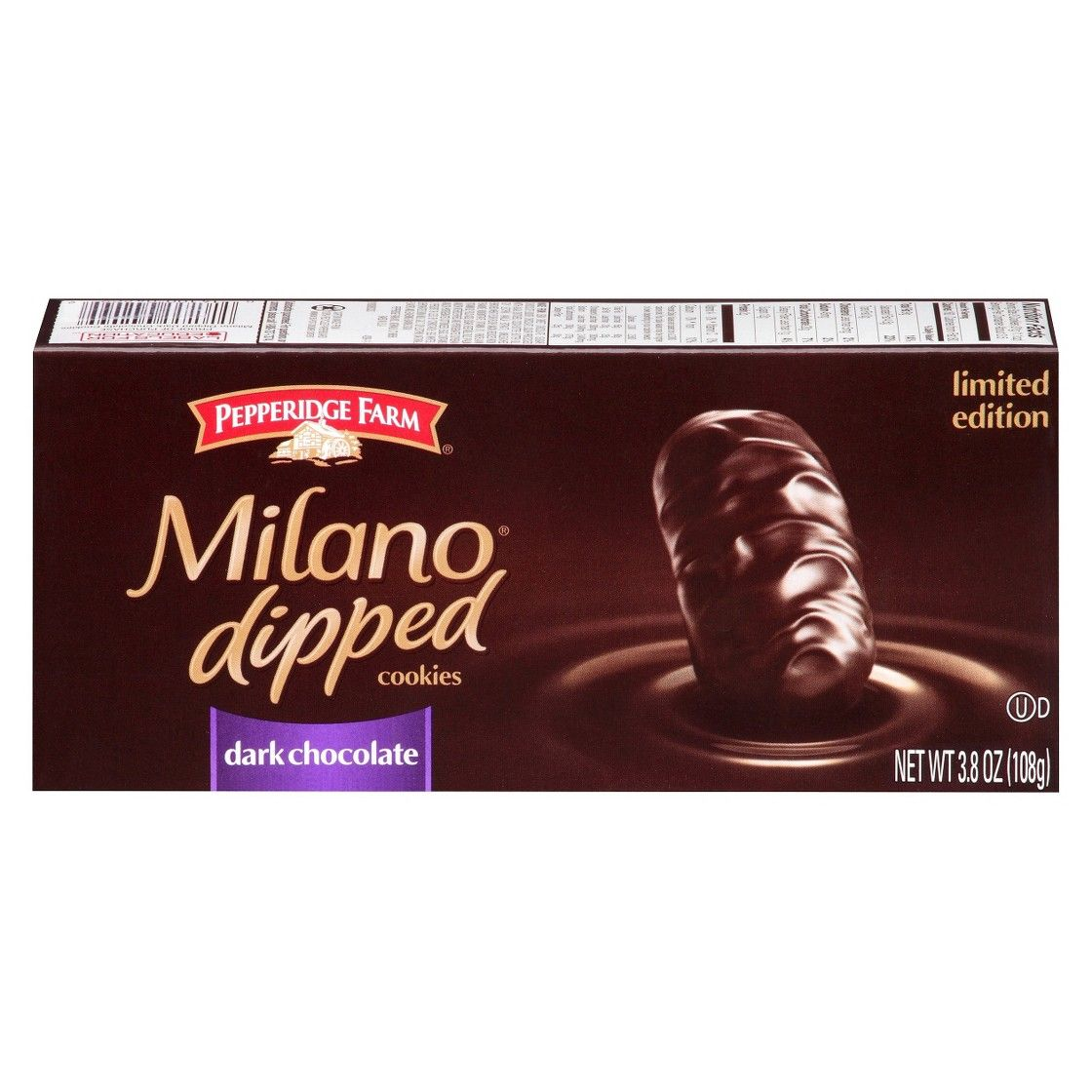 So sad these only come around christmas! Pepperidge Farm� Milano Dark Chocolate Dipped Cookies