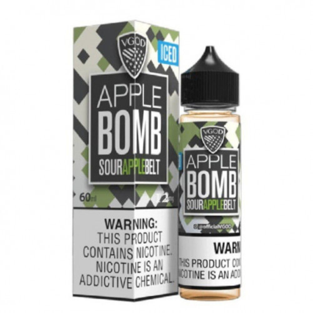 Vgod Apple Bomb Sour Apple Ice 60ml فيب شيشة سحبة سيجارة نكهات شيش فيب سعودي Vape Saudi Apple Green Apple Bottle Sizes
