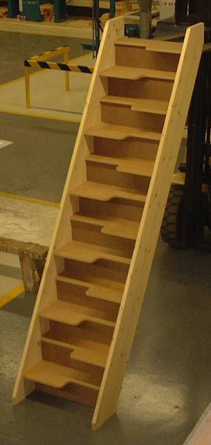 Charming Space Saving Stairs   30 Mm MDF Treads   But I Would Leave It Open   No  Risers