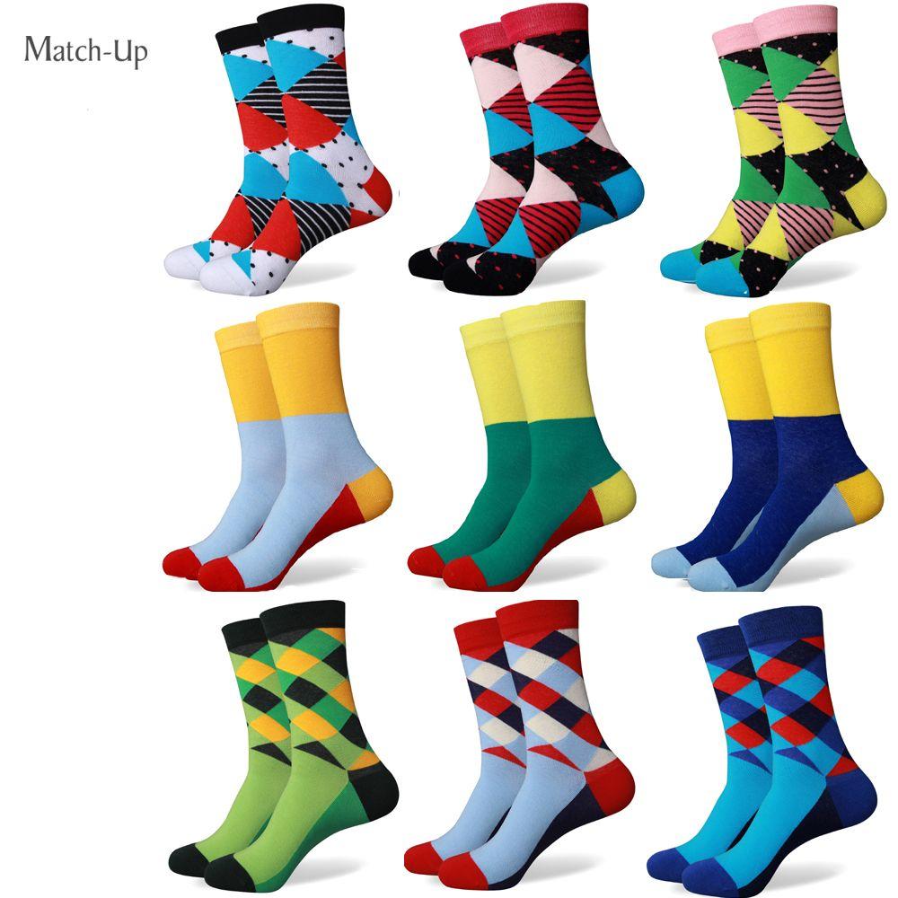 Encontrar Más Medias Información acerca de Hombres calcetines de algodón de  colores un montón de nuevos estilos 1fd3b5ebde8
