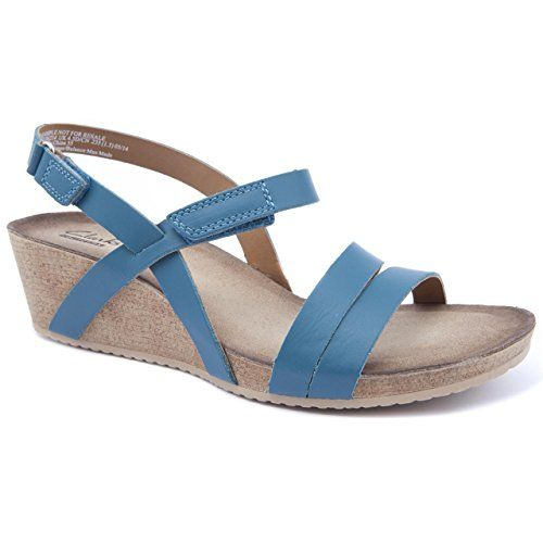 Discriminación sexual frecuencia esposa  Clarks Ladies Alto Gull Green Wedge Sandals Size 5 Clarks http ...