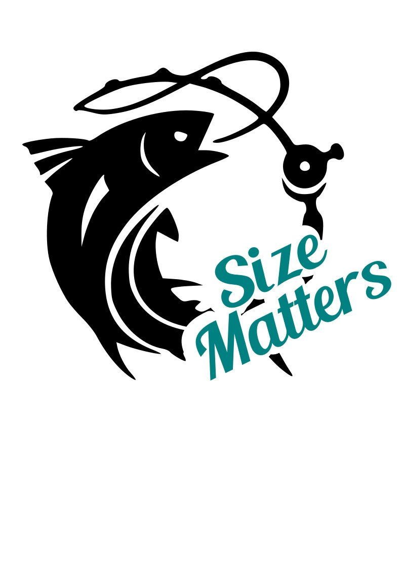 Size matters fishing svg file quote cut file silhouette