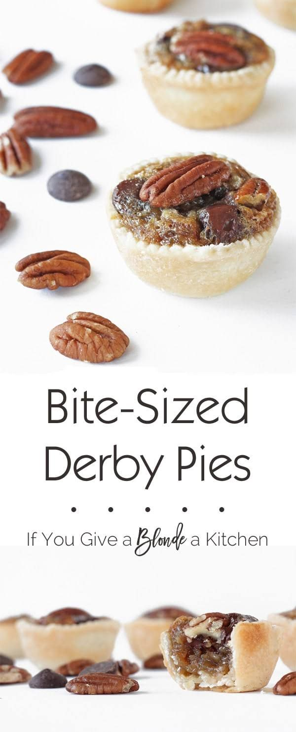Try a bite-sized derby pie for the Kentucky Derby! These mini treats ...