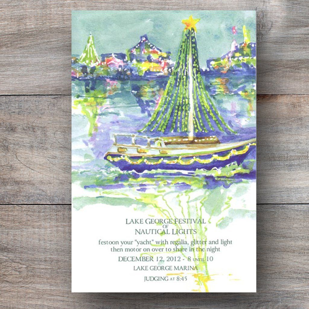 invitation letter for judging an event%0A Nautical Lights Christmas Boat Parade Invitations