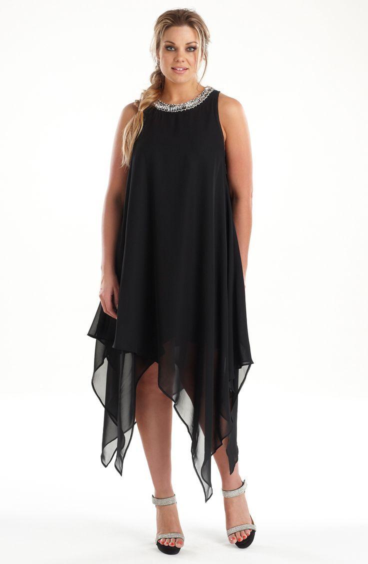 Full figure black cocktail dresses