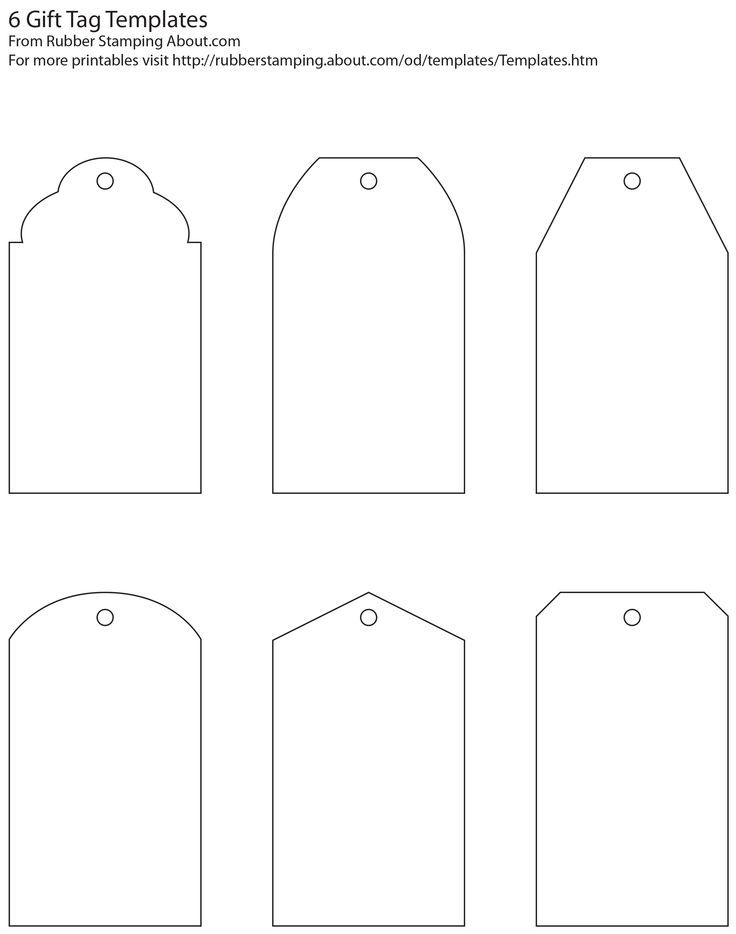 Classic Gift Tag Blank Templates (Free Printable), Fill In Your