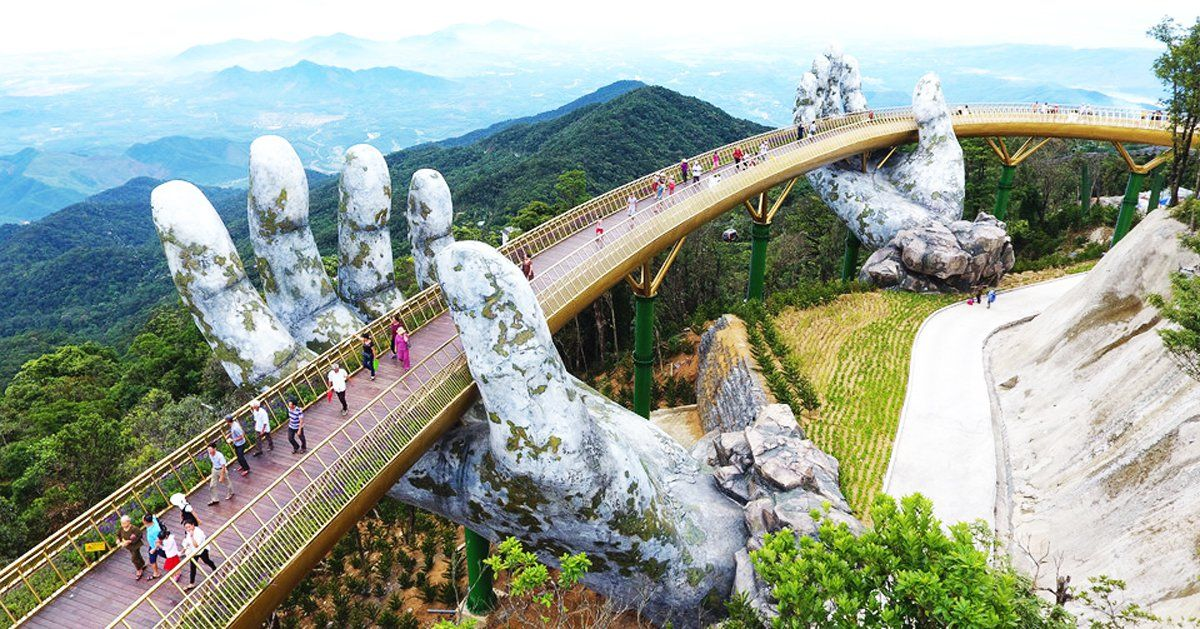 Image result for golden bridge on bana hills