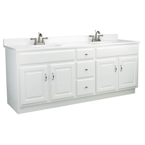 Design House Concord 72 Inch White Gloss Vanity Cabinet Without