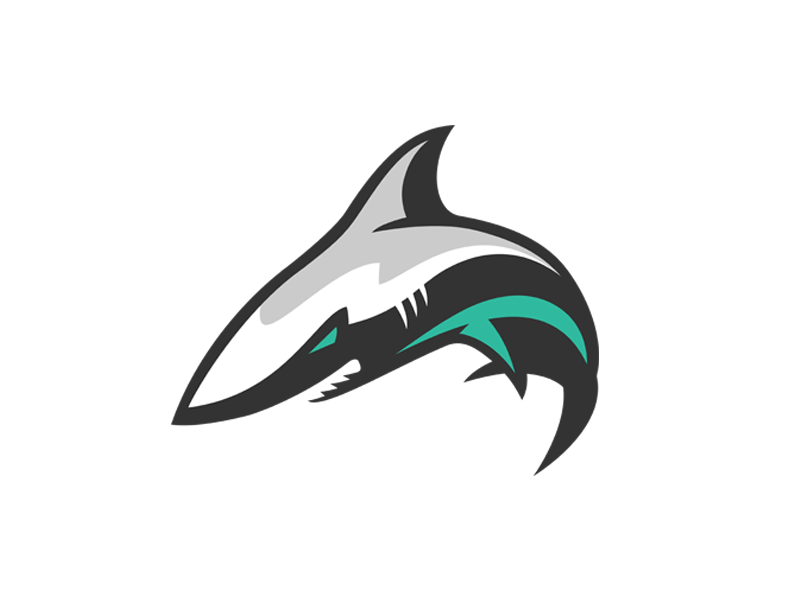 shark logo by zach daigle american logo sport theme ms