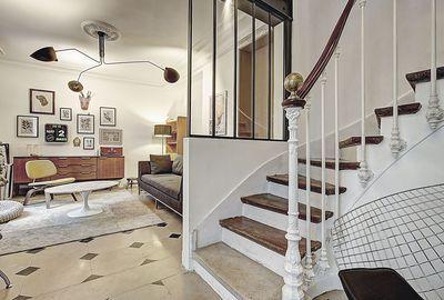 une petite verri re d 39 int rieur pour ouvrir l 39 escalier sur la pi ce de vie r alisation sign e. Black Bedroom Furniture Sets. Home Design Ideas
