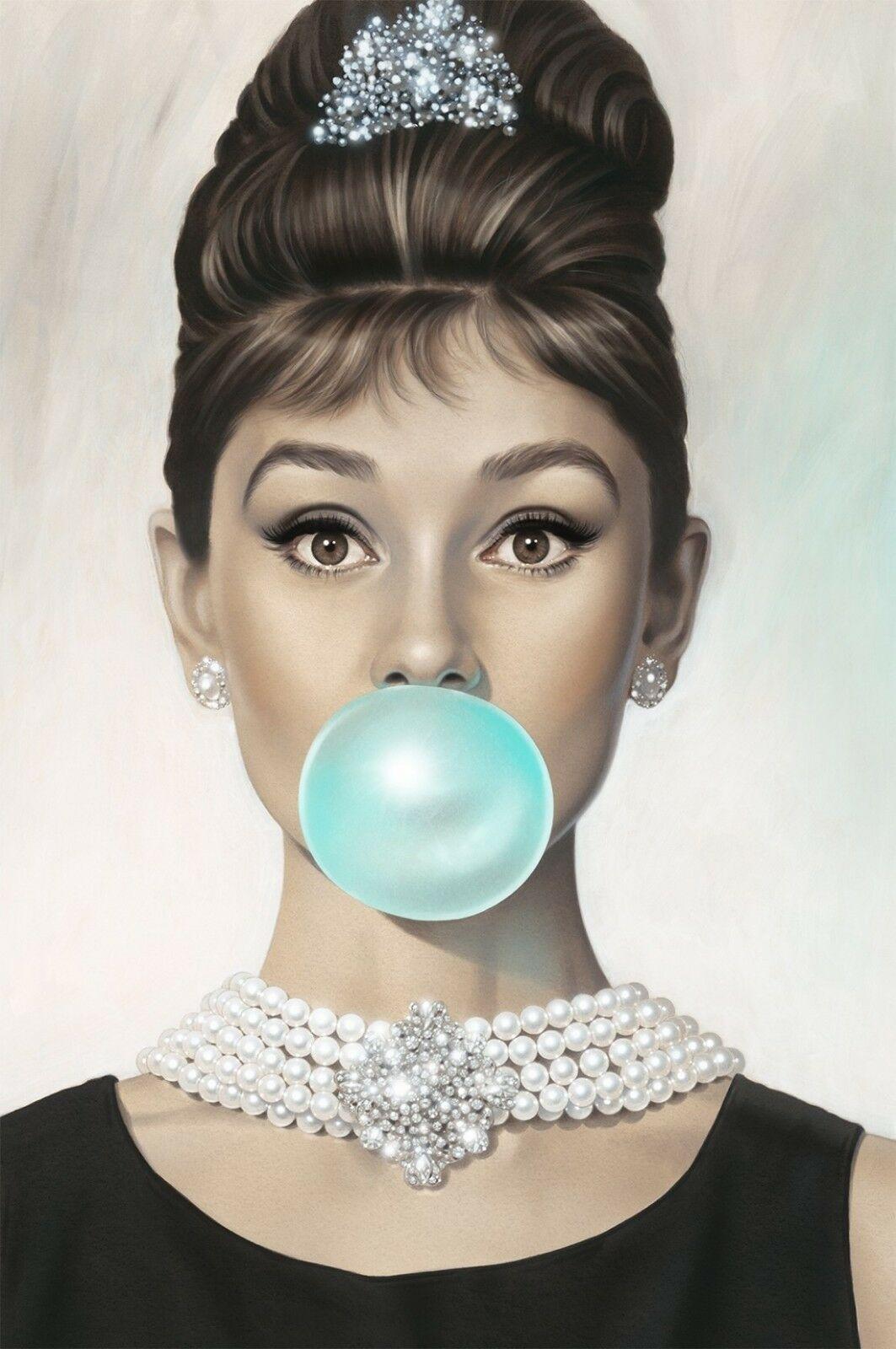 Audrey Hepburn - Blue Bubble Gum Actress   Audrey hepburn ...