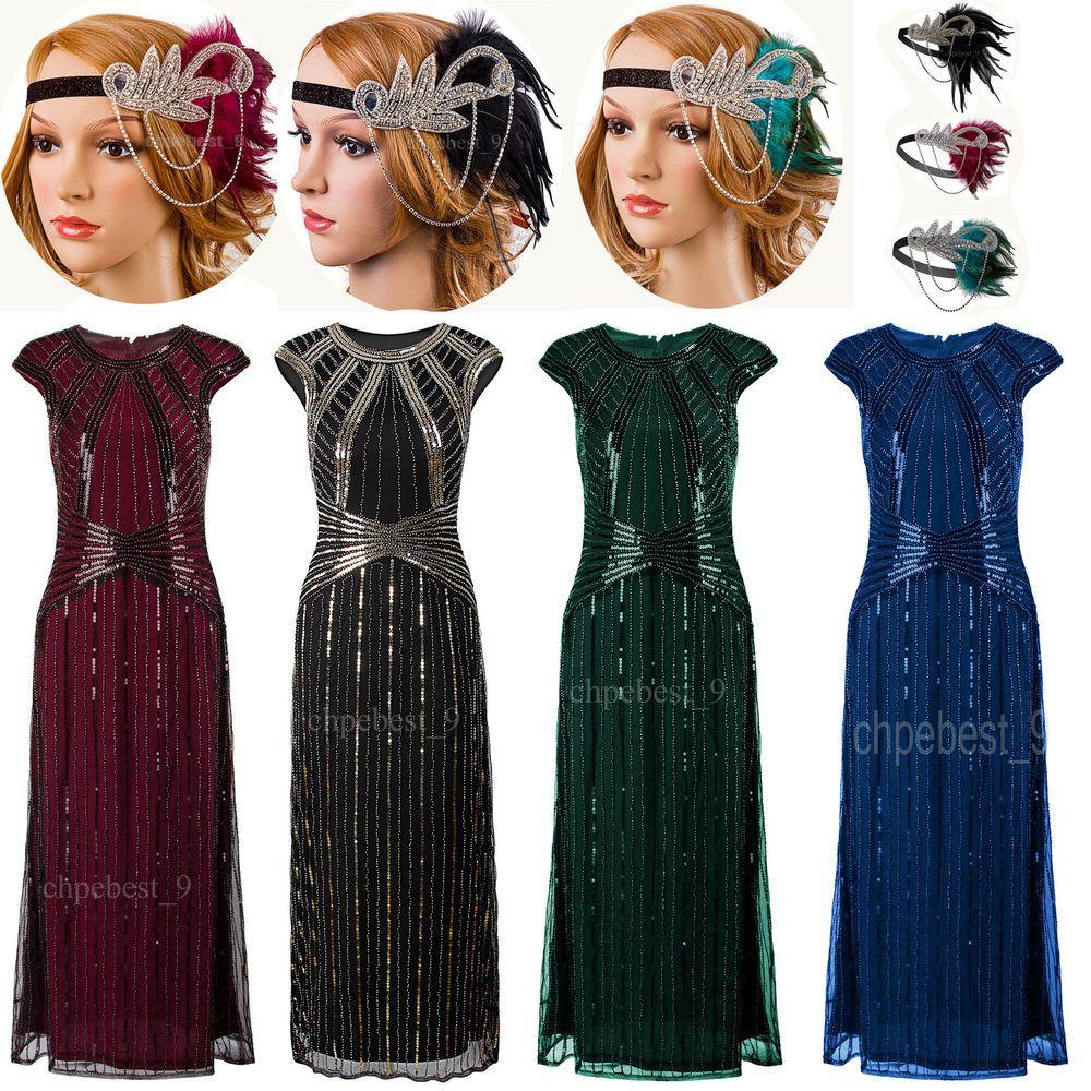 5db9f0ed593 Prom Dresses Long Bridesmaids Dress 1920s Flapper Dress Vintage Style  Womens Costumes Halloween Christmas Dress.