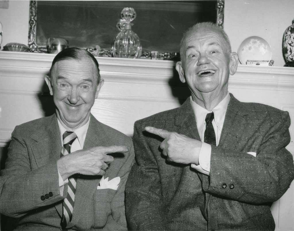 Stanley Laurel & Oliver Hardy in 1956 Laurel and hardy