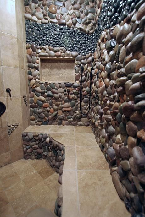 40 Spectacular Stone Bathroom Design Ideas: I Am Definitely Wanting To Do Something Like This On The