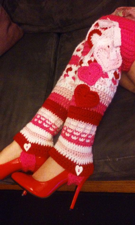 Pdf Pattern Only Crochet Lots Of Love Stirrup Legwarmers Instant