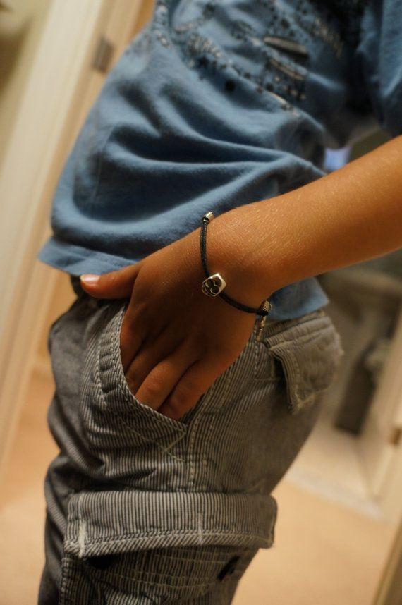 Little Boys Skull Bracelet Made in Canada by Links & Locks on Etsy, $10.00
