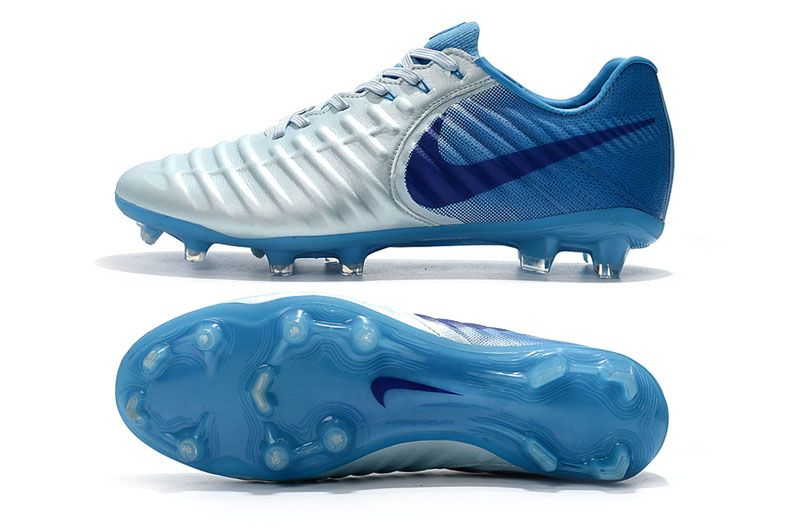 new styles ec796 943d6 New Nike Tiempo Legend VII FG 2018 World Cup - Silver Blue ...