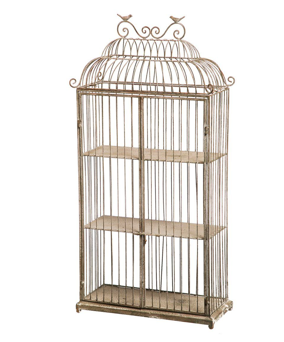 Take A Look At This Metal Birdcage Planter Shelf Today Birdcage