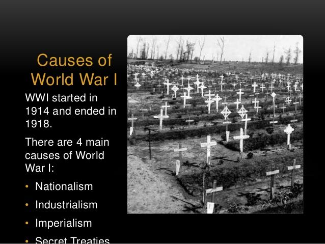 what were the four main causes of world war i