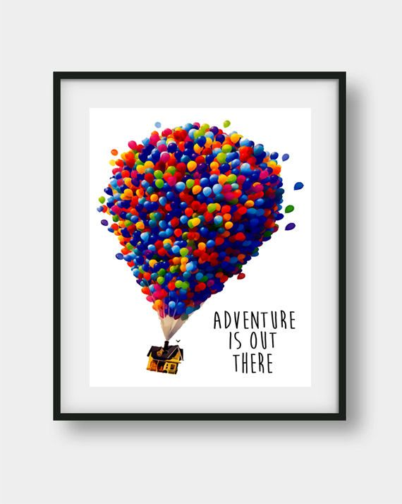 Disney Up House Balloon House Disney Wall Art Disney Art Disney Wall Art Disney Wall Decor Disney Up House