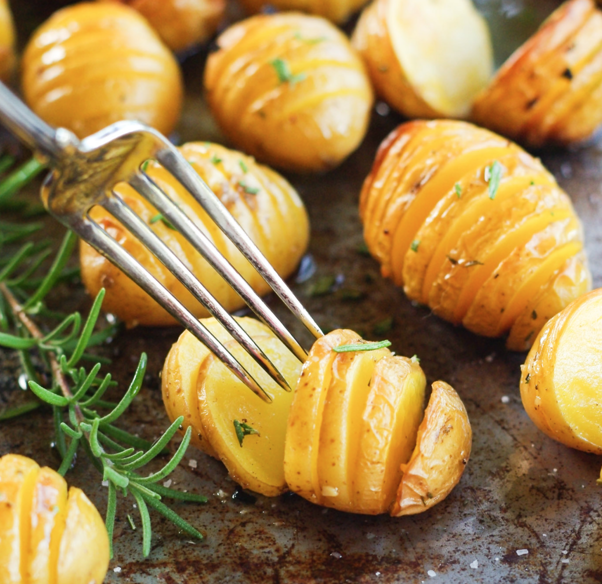 Roasted Rosemary Hasselbeck Potatoes!