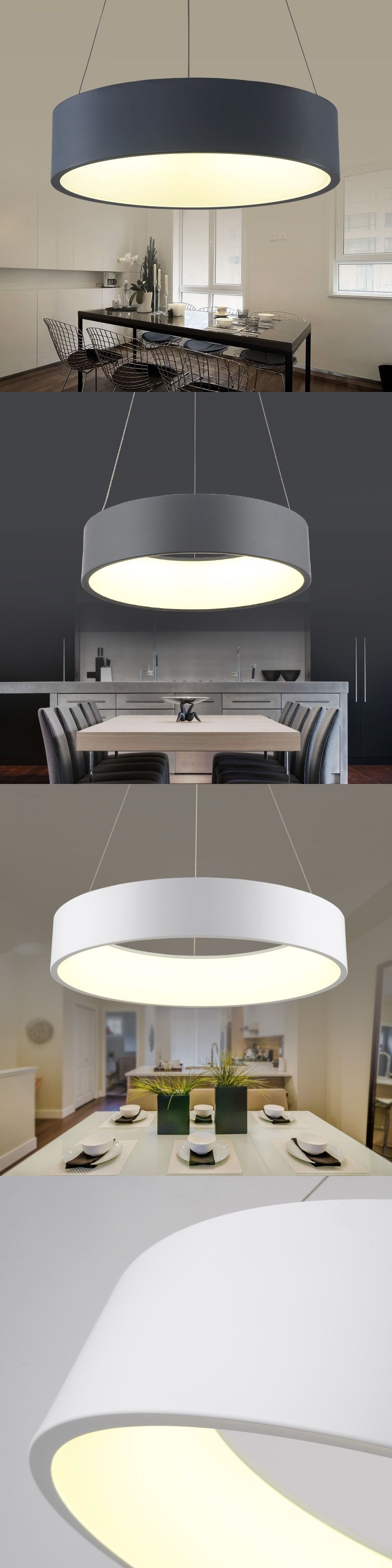 110v 220v Led Pendant Light Pendentes Para Sala De Jantar Hanglampen  -> Lustre Sala De Jantar Led