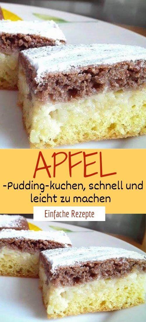 Apfel-Pudding-kuchen, schnell und leicht zu machen  #spekulatiuskuchen