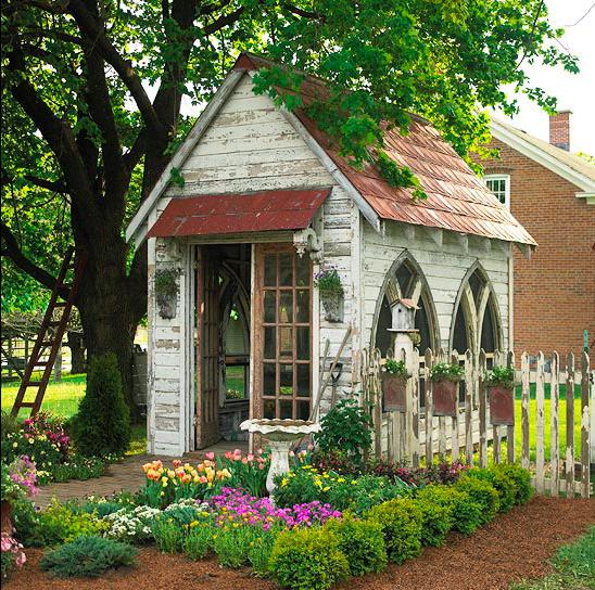 gothic garden shed
