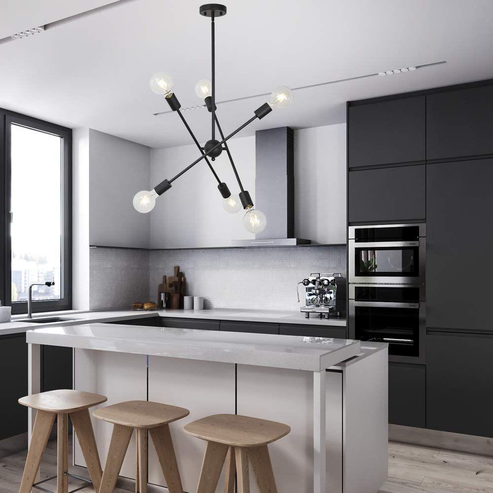 Black And White Kitchen Island With Metallic Barstools Eclectic Kitchen Kitchen Design Hgtv Kitchens