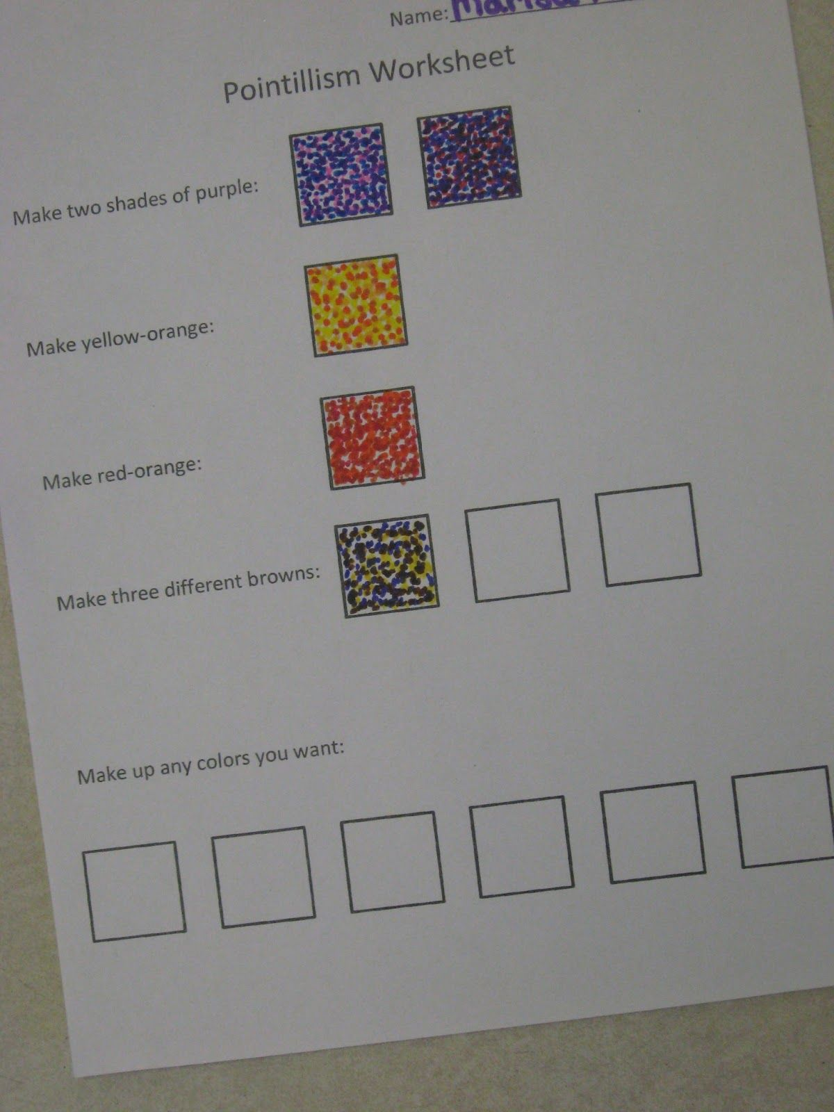 I Love Teaching About Pointillism There Is So Much Color