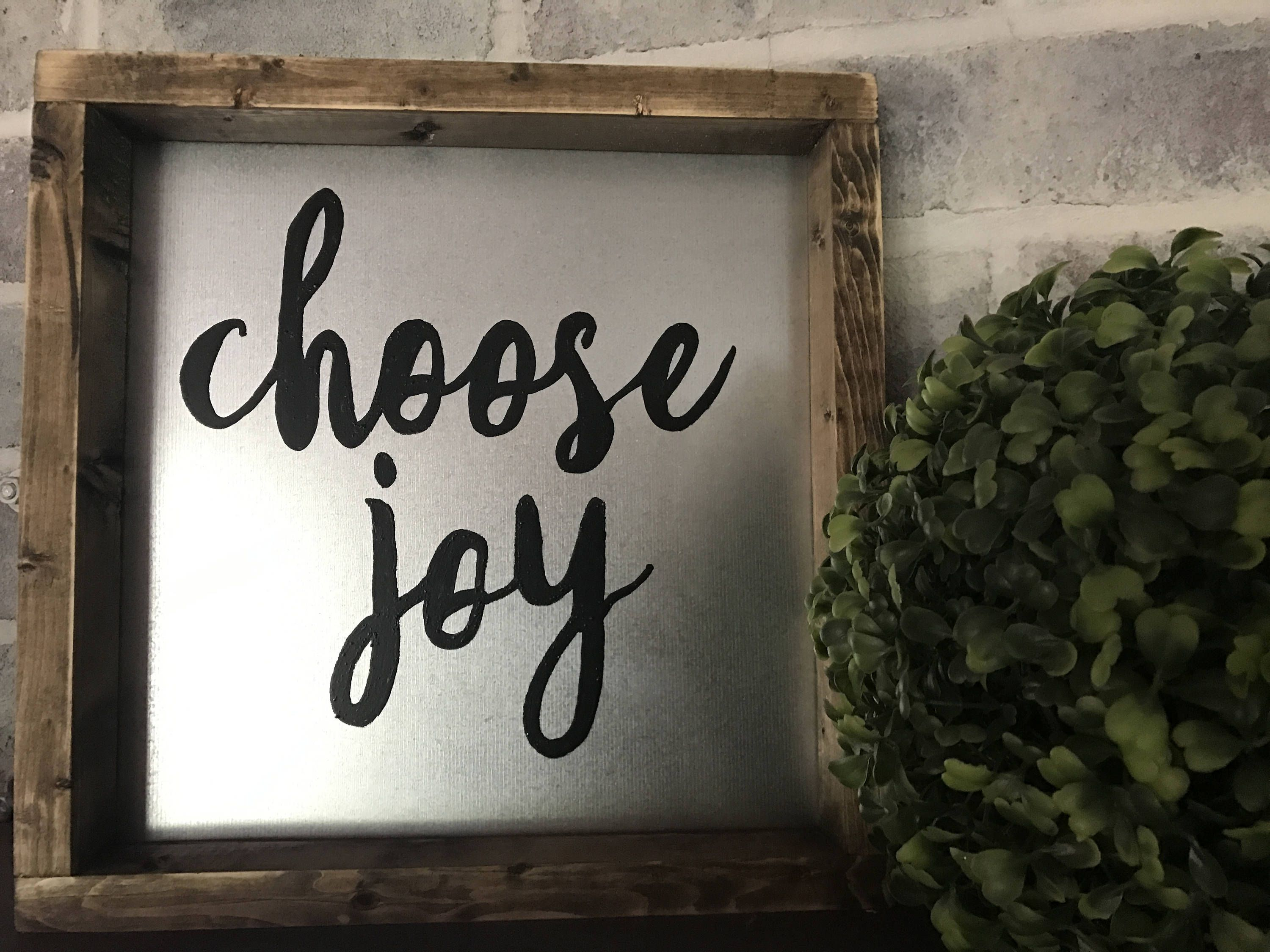 Choose joy sign, metal sign, farmhouse sign, farmhouse decor, metal ...
