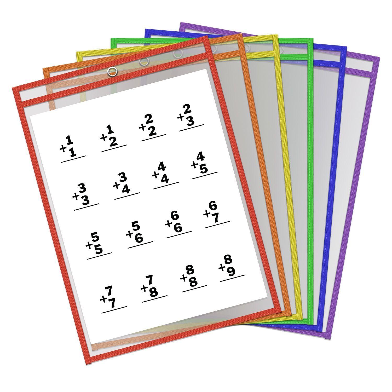 Thornton S Office Supplies 9x12 Reusable Dry Erase Pockets