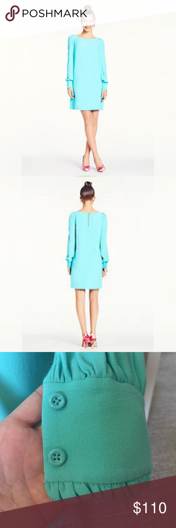 ♠️NWT Kate Spade Cordette Dress 👗 Sz 6 NWT light blue Cordette dress by Kate Spade. Size 6 kate spade Dresses Long Sleeve