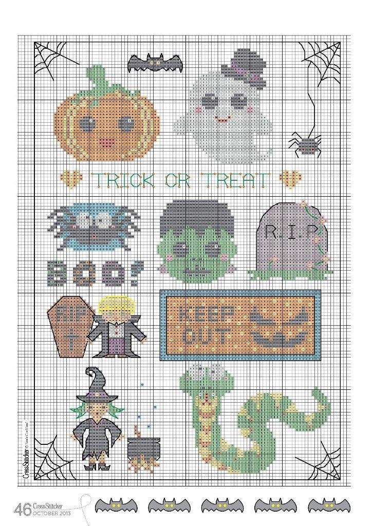 Pin de sheila davis en Halloween | Pinterest | Punto de cruz ...