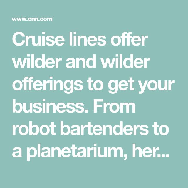 10 unusual cruise ship amenities | Cruise, Cruise ship ...
