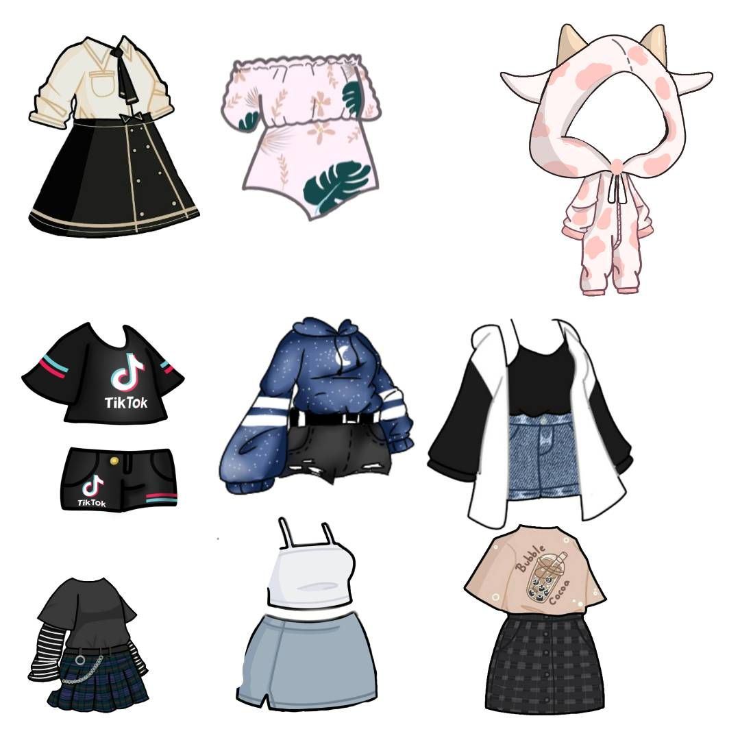 Gacha Life Drawing Anime Clothes Fashion Design Drawings Anime Outfits