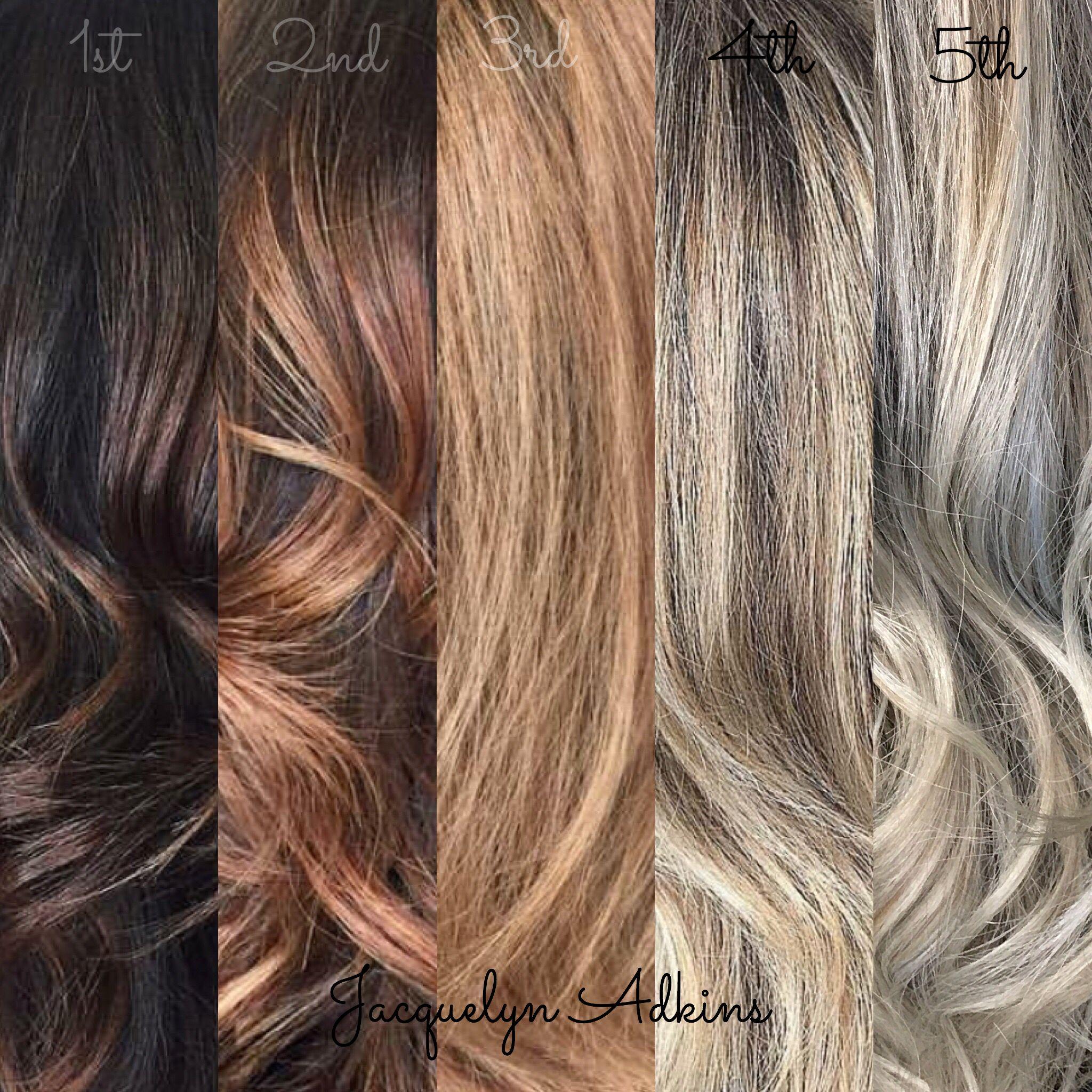 Follow My Instagram Unevneib Hand Painted Hair Lightening Stages How To Lighten Hair Lightening Dark Hair Hair Painting