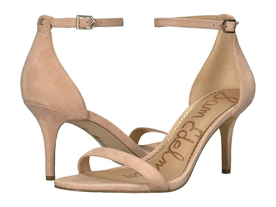 88ba09b61 Sam Edelman Patti Strappy Sandal Heel (Seashell Pink Kid Suede Nubuck) High  Heels.